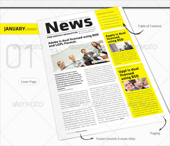 Monthly Newsletter Template – 10+ PSD, PDF Documents Download