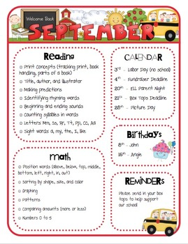 Monthly Class Newsletter Templates by Mrs. Ricca's Kindergarten | TpT