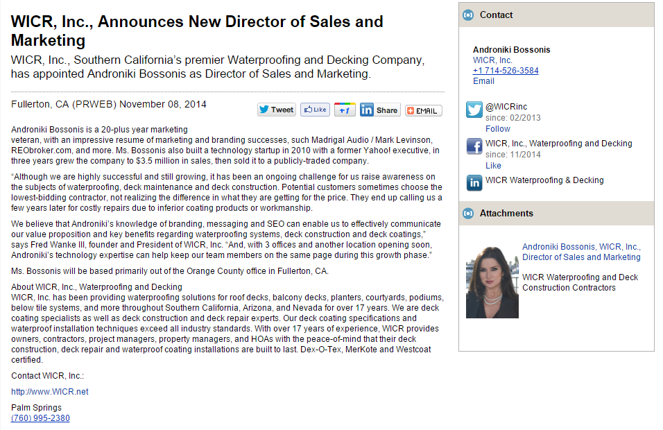 WICR Hires New Director of Marketing & Sales | WICRLeaks.