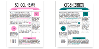Free Newsletter Templates in Microsoft Word, Adobe Illustrator and