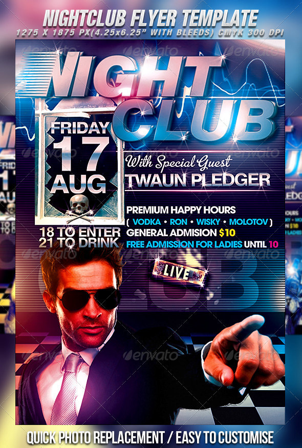 28 Fabulous Night Club Flyer Templates Psd Designs Free Nightclub