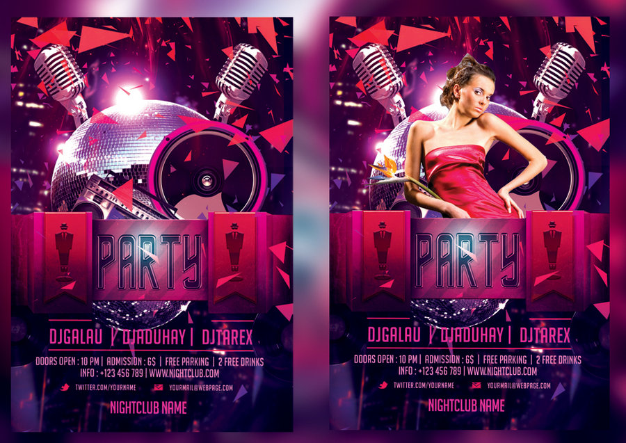 Club Flyer Maker Online Free Psd Graphics River Stunning Nightclub