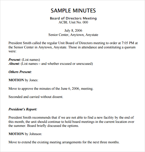 25 Images of Non Profit Board Minutes Template | leseriail.com