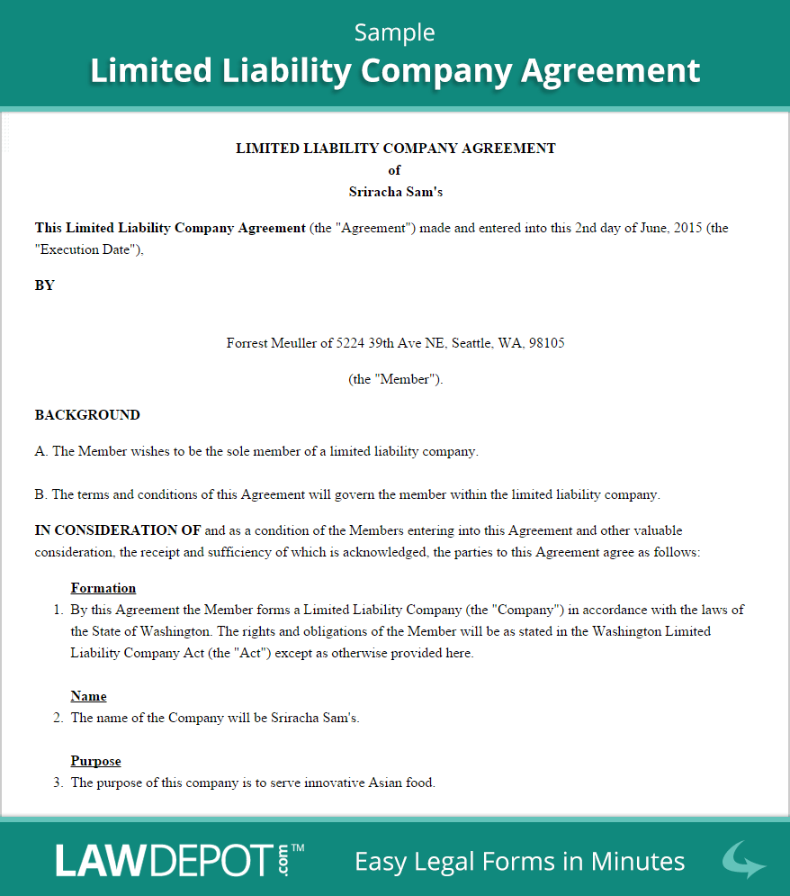 LLC Operating Agreement Template (US) | LawDepot