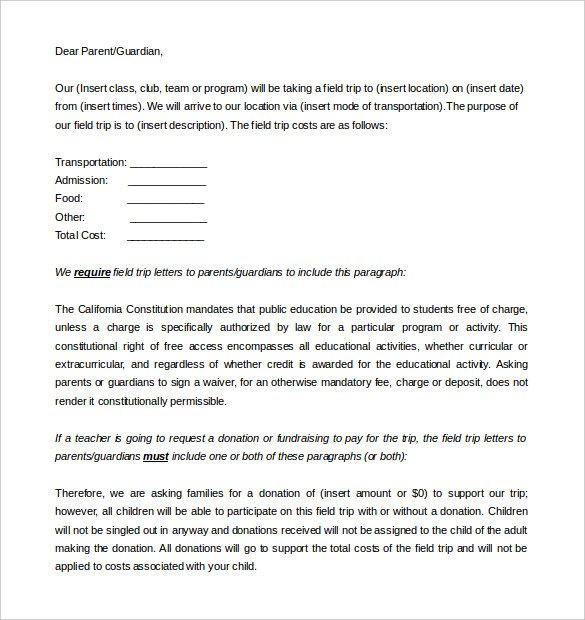 9+ Parent Letter Templates – Free Sample, Example Format Download