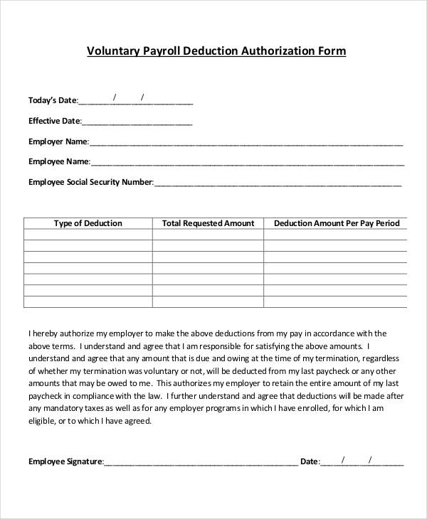 payroll agreement template payroll deduction form template payroll
