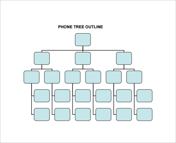 Phone Tree Template for Word and Excel®   Dotxes
