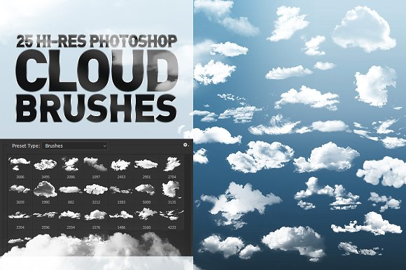 30+ Free Photoshop Cloud Brushes   Creatives Wall