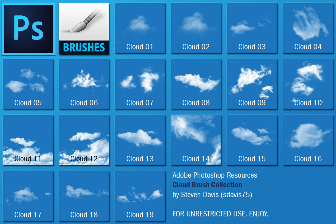 Cloud Photoshop Brushes   Free Photoshop Brushes at Brusheezy!