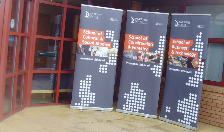 2b Creative Ltd   Inverness College Pop Up Banner Design Inverness