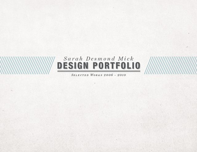 Portfolio Cover Design 2012 by Derek Brown   Dribbble