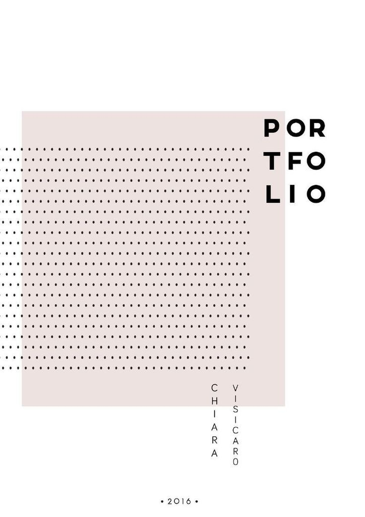 Portfolio cover (minimal) | Graphic Design | Pinterest | Portfolio