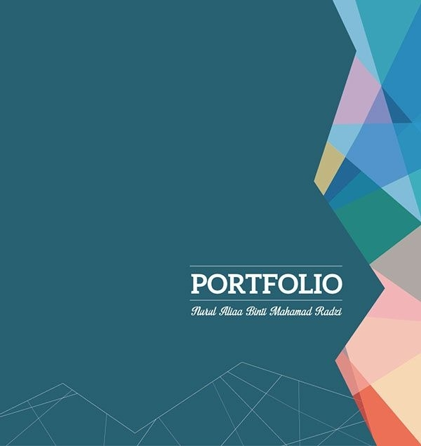 Creative Graphic Design Portfolio Cover | Printables and Menu