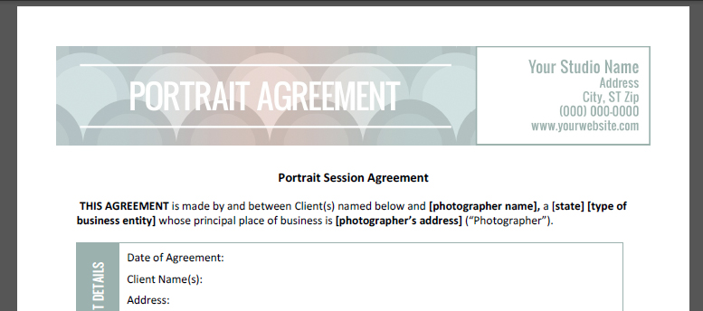 General Photography Contract | beneficialholdings.info