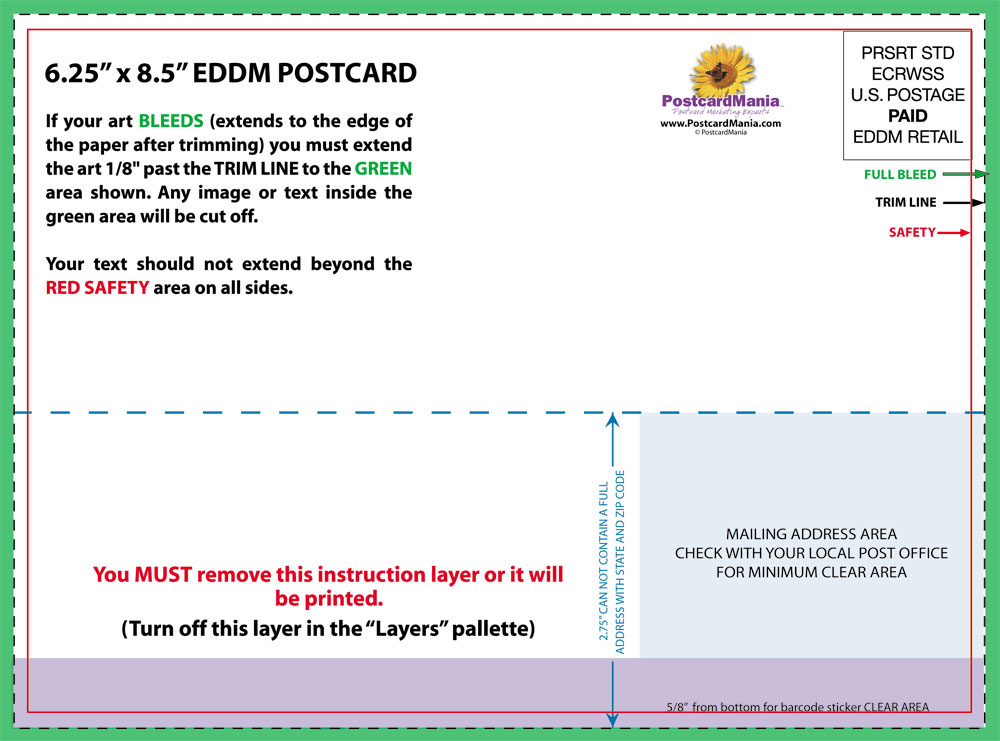 Postcard Mailer Template Mailing Regulations For Brochures