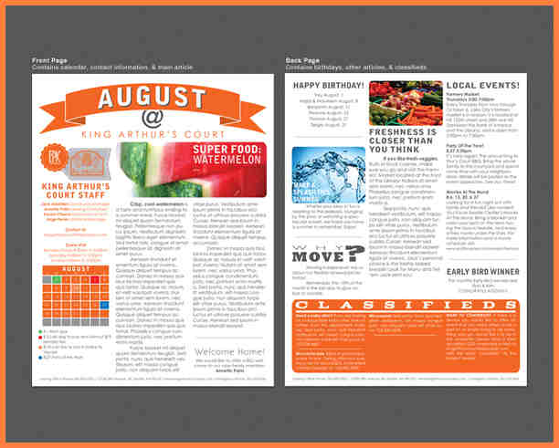 28 Images of Print Professional Newsletter Template | crazybiker.net