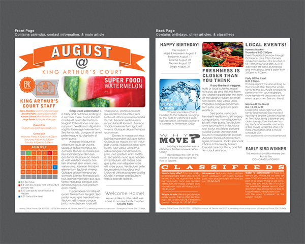 Newsletter Templates For Print | Gratulfata