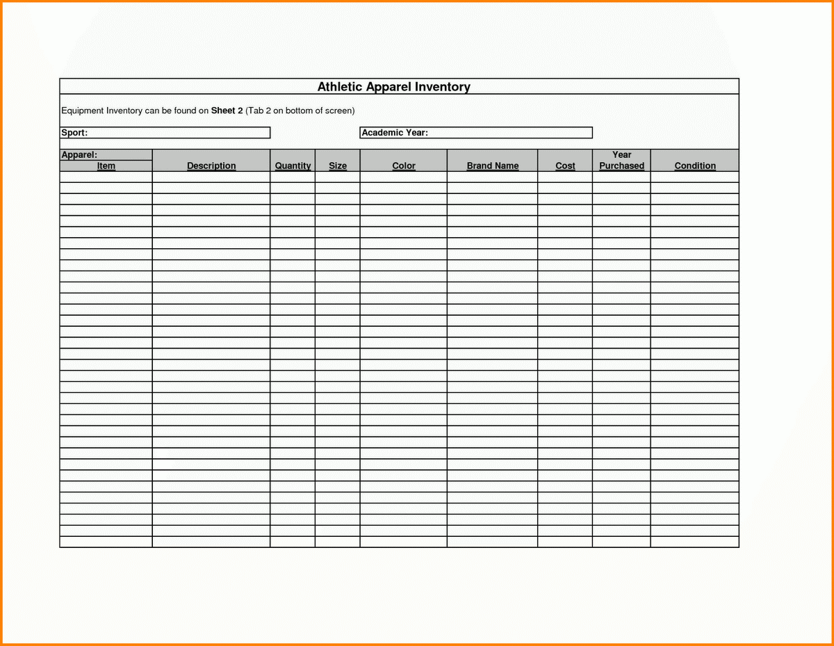 Printable Inventory List Template   saunabelt.co