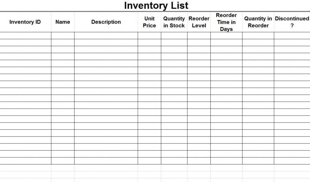 free printable home inventory forms   Manqal.hellenes.co