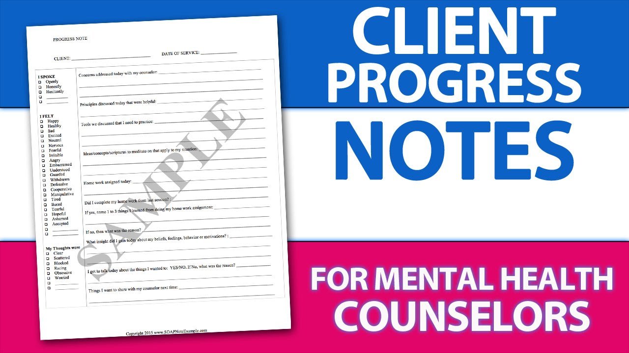 Easy Client Progress Note Template Tip For Mental Health
