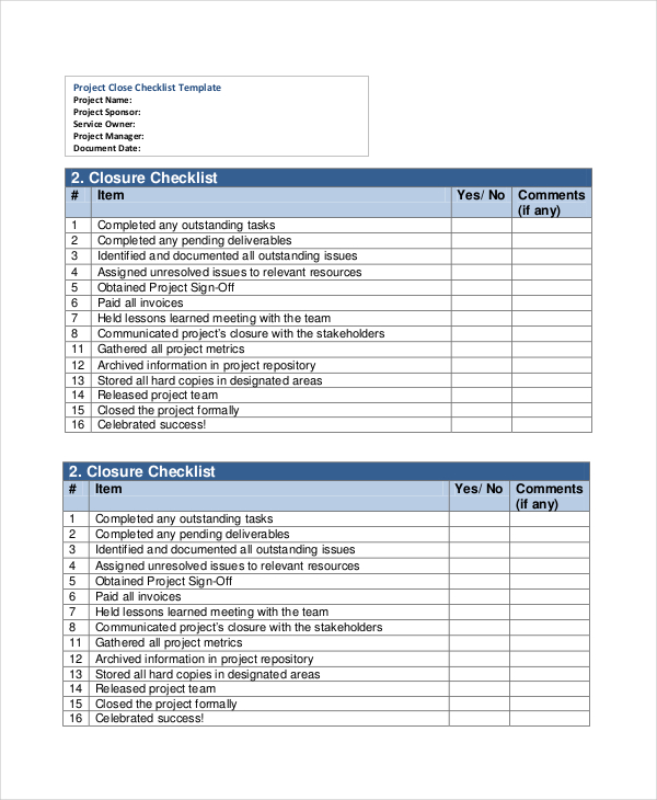 8+ Project List Templates   Free Sample, Example, Format | Free