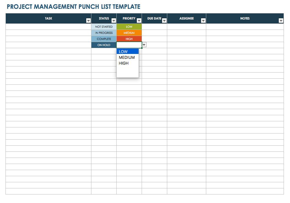 architectural punch list template   Physic.minimalistics.co