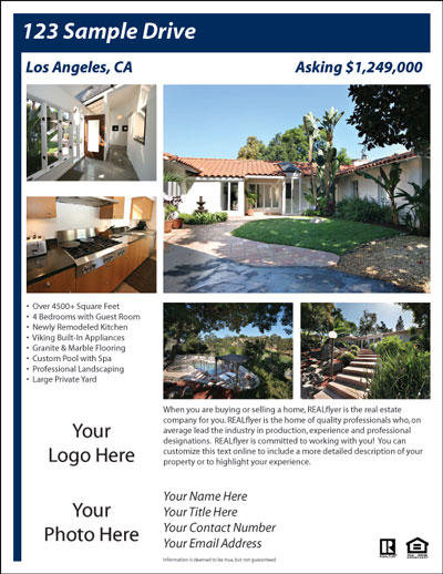 Free Real Estate Flyer and Postcard Templates. Real Estate Flyers