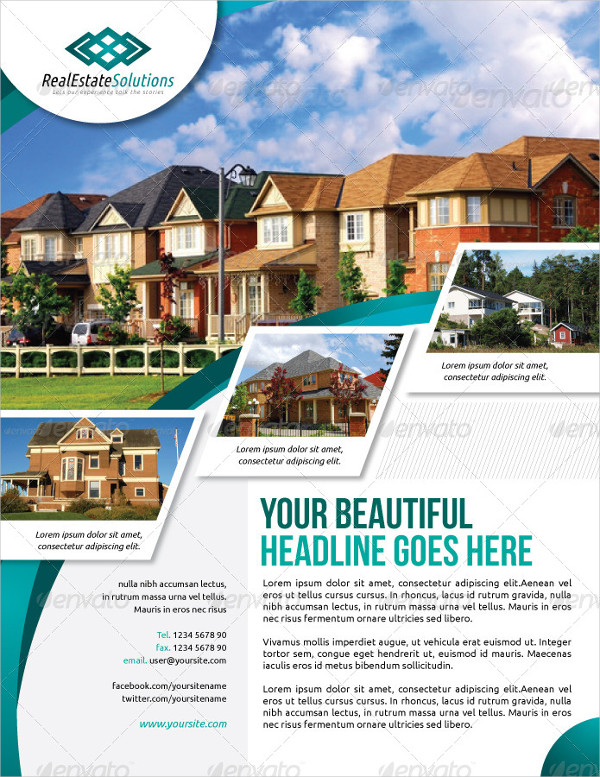 19+ Real Estate Flyer Template   Free PSD, Vector AI, EPS Format