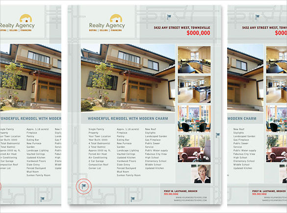 real estate brochure template free download real estate flyer
