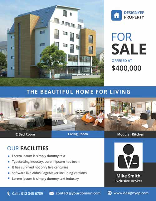 real estate brochure template free download real estate free psd