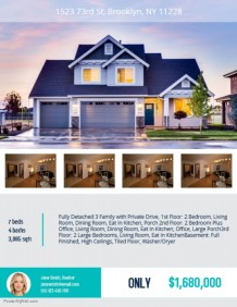 Real Estate Flyer Templates   PosterMyWall