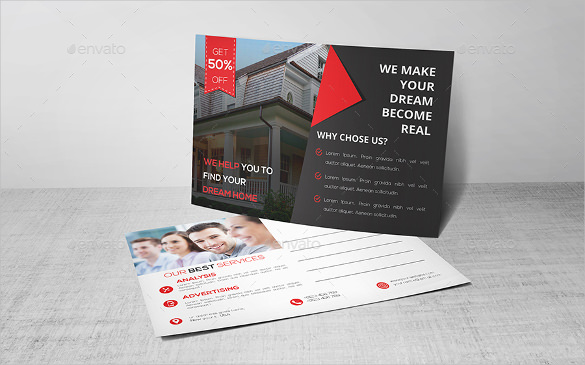 18+ Real Estate Postcard Templates – Free Sample, Example Format