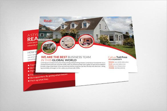 Real Estate Postcard Template Real Estate Postcard Template