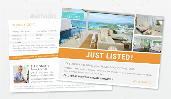 Realtor Postcard Template – 18+ Free PSD, Vector EPS, AI, Format