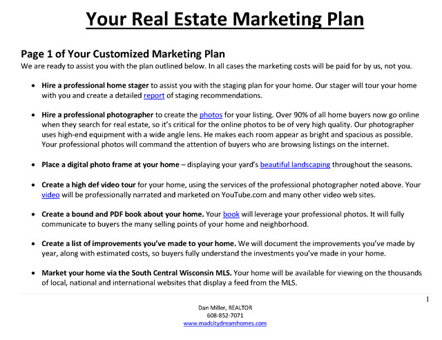 real estate listing marketing plan   Physic.minimalistics.co