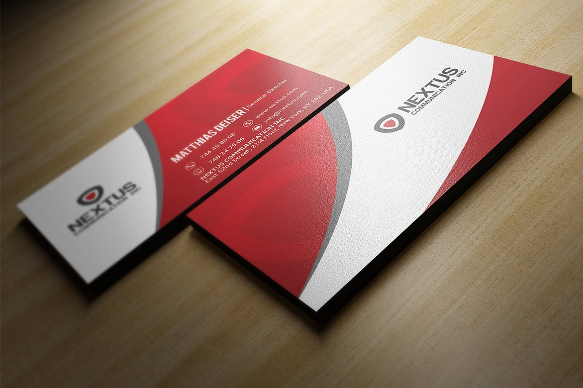 Red Business Card by Marvel Medias | Design Bundles