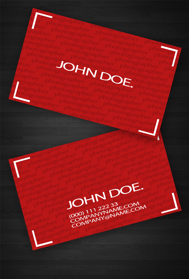 Red Business Card Template | Unique Business Cards