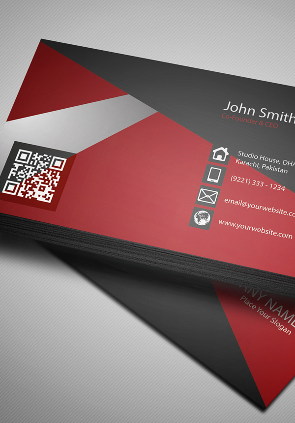Free Creative Red Business Card PSD Template | Freebies | Graphic