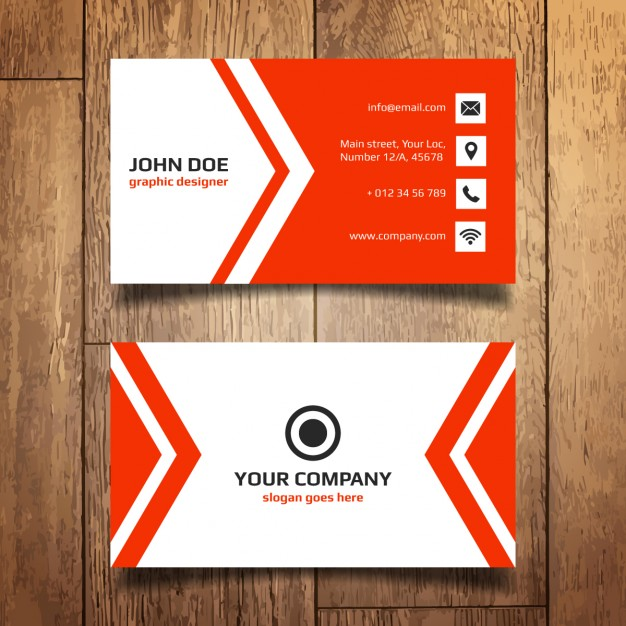 Red Business Card Template Vector | Free Download