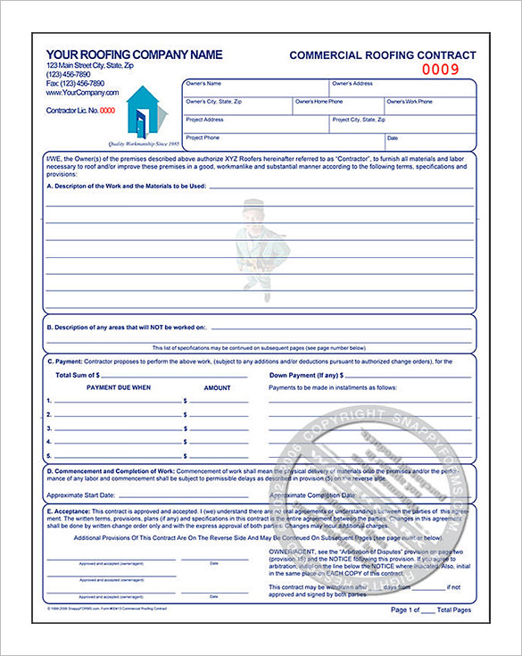 Roofing Proposal Template Sample Roofing Estimate Template