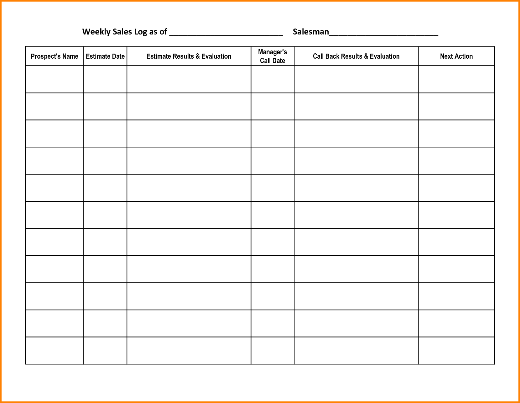 Sales Call Report Template   11+ Free Word, PDF Format Download