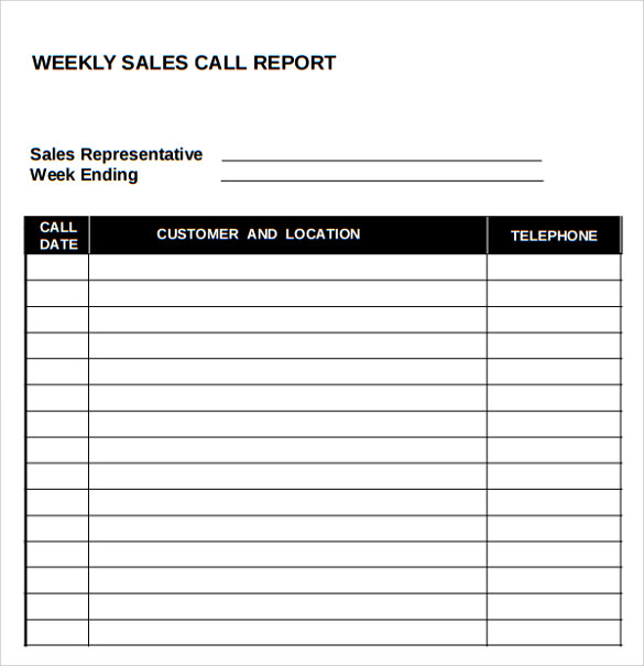 sales call report template   Godscloset.us