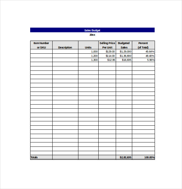 Sales Goals Template | beneficialholdings.info