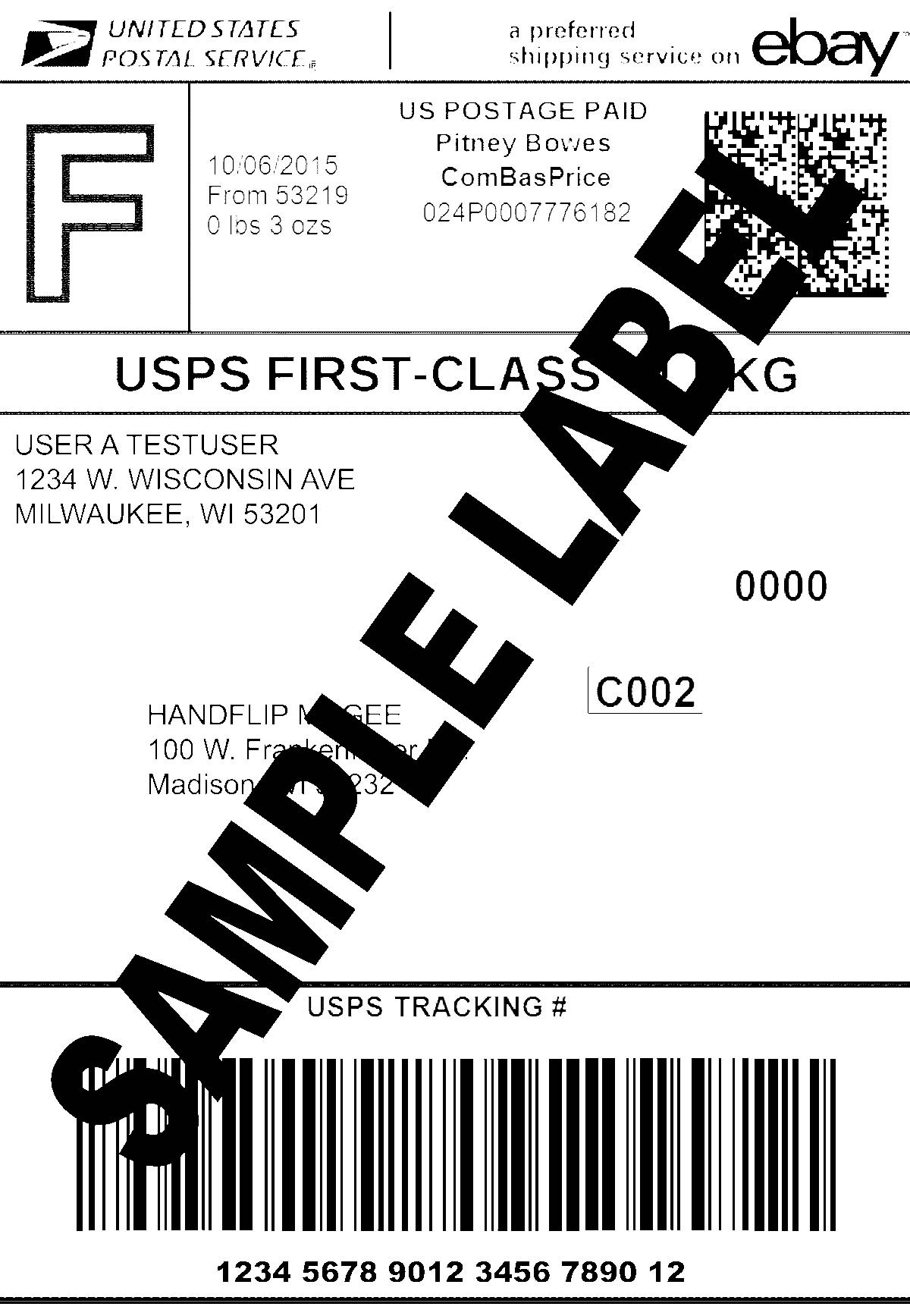 Usps Printable Labels Sample Shipping Label Template Examples