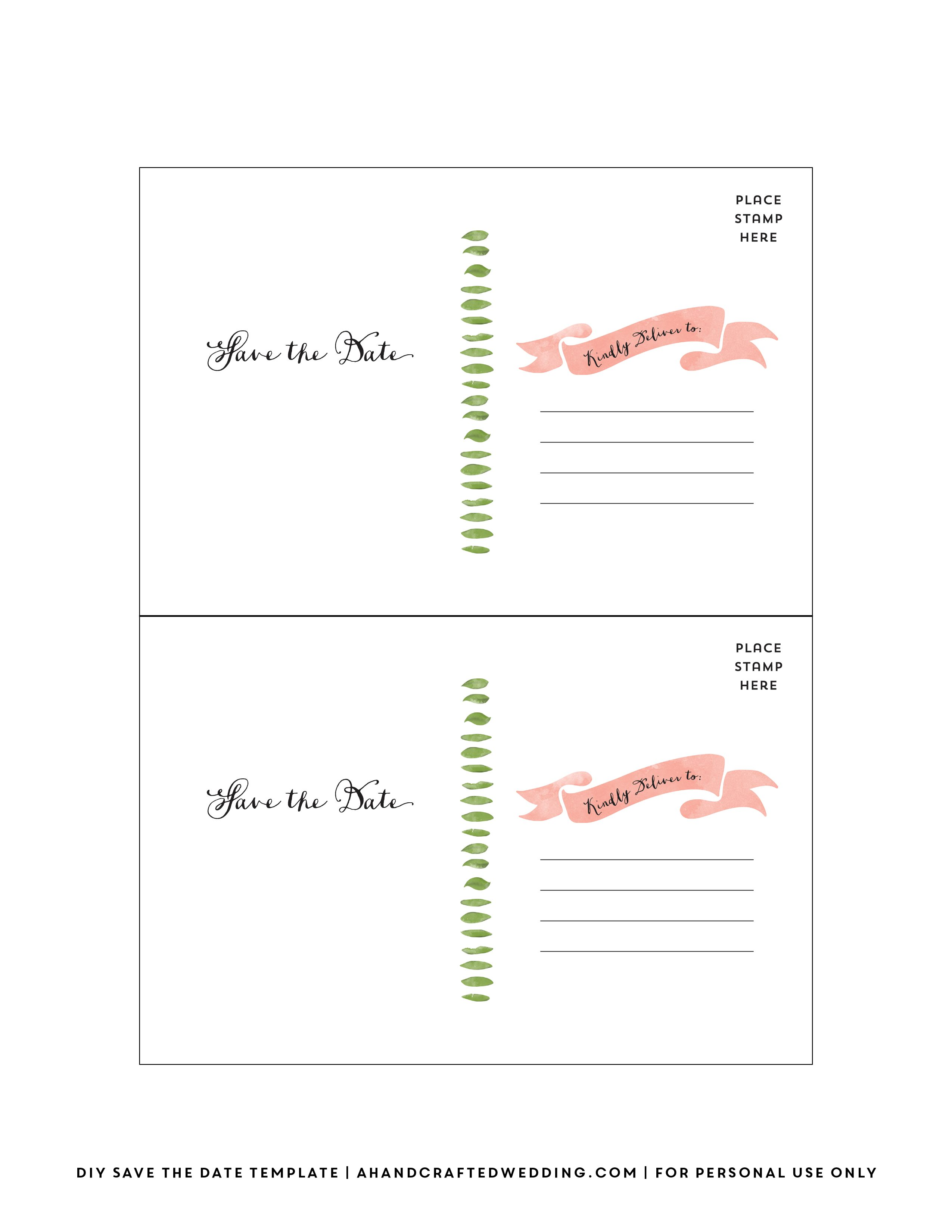 DIY Save The Date Postcard Free Printable | Mountain Modern Life