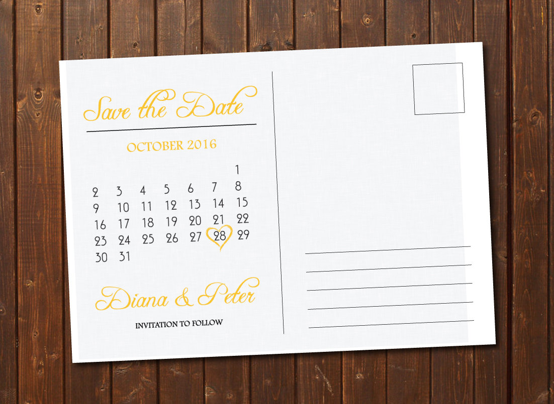 Free Printable Save the Date Postcard Templates New Save the Date