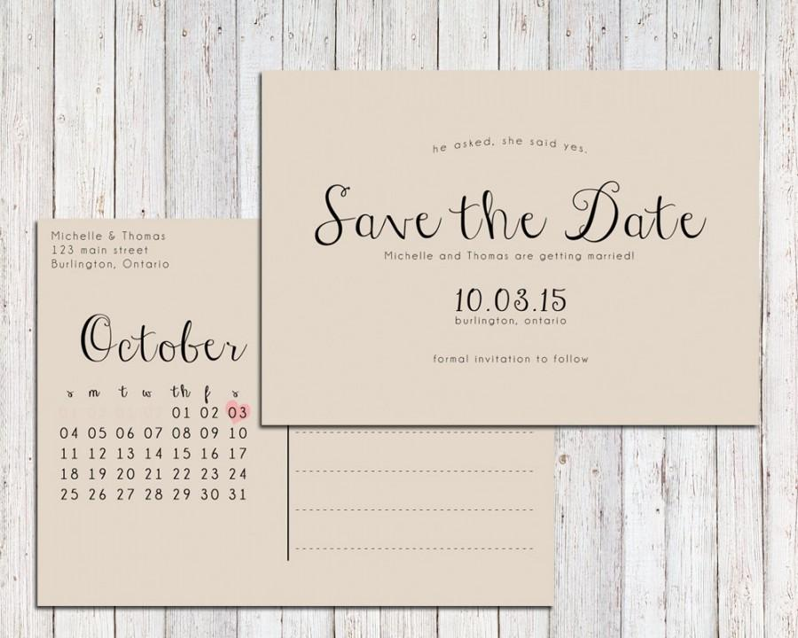 Save The Date Postcard Templates | Professional And High Quality