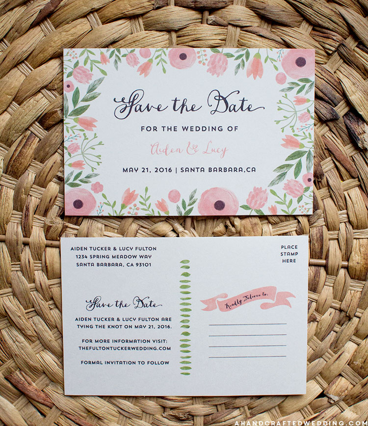 save the date postcard template free free printable save the date
