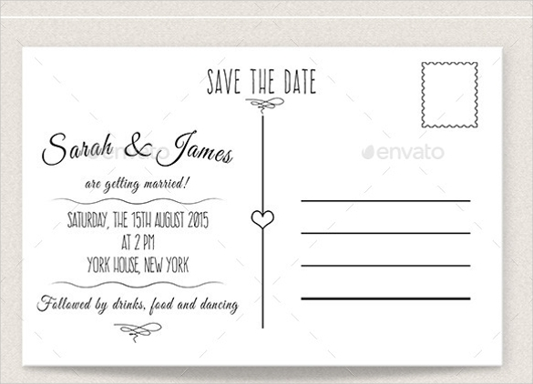 Save The Date Postcard Templates | Template Throughout Save The