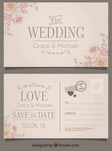 Save the date postcard template | Etsy